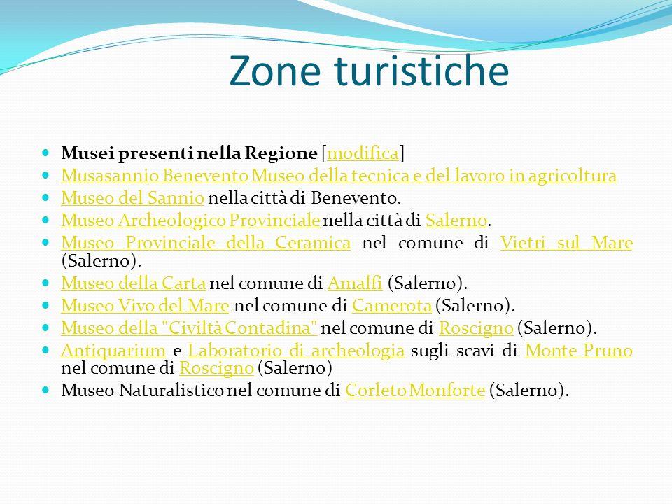 Zone turistiche Musei presenti nella Regione [modifica]